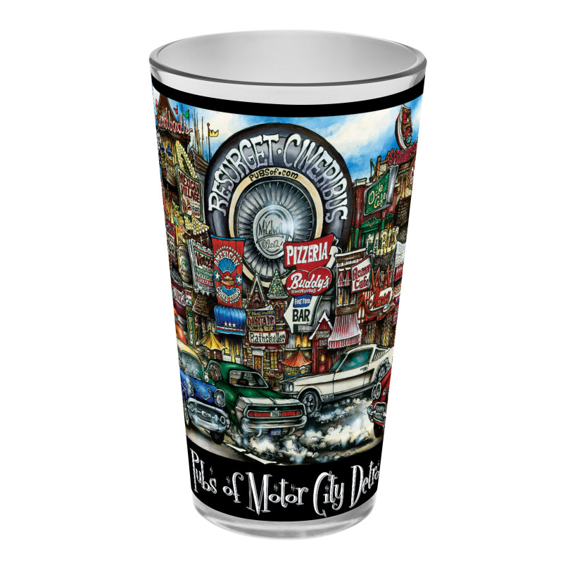 Pubsof The Motor City Pint Glass Sets