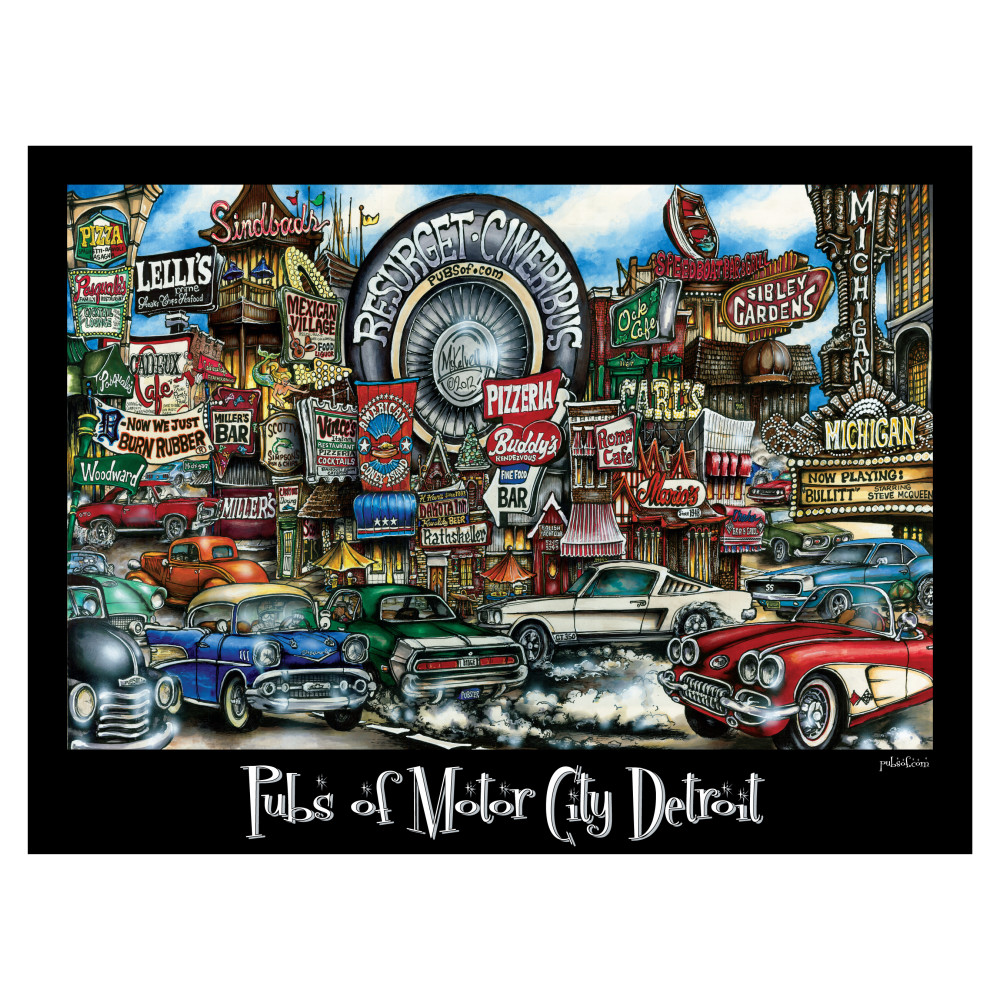 Pubsof Motor City Detroit Mi Poster
