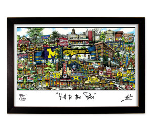 Hail To The Pubs Framed Print-01